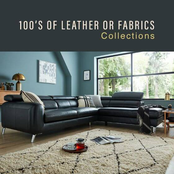 100's of Leather & Fabric Collection